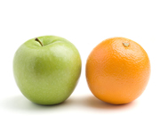 Apples & Oranges Comparison